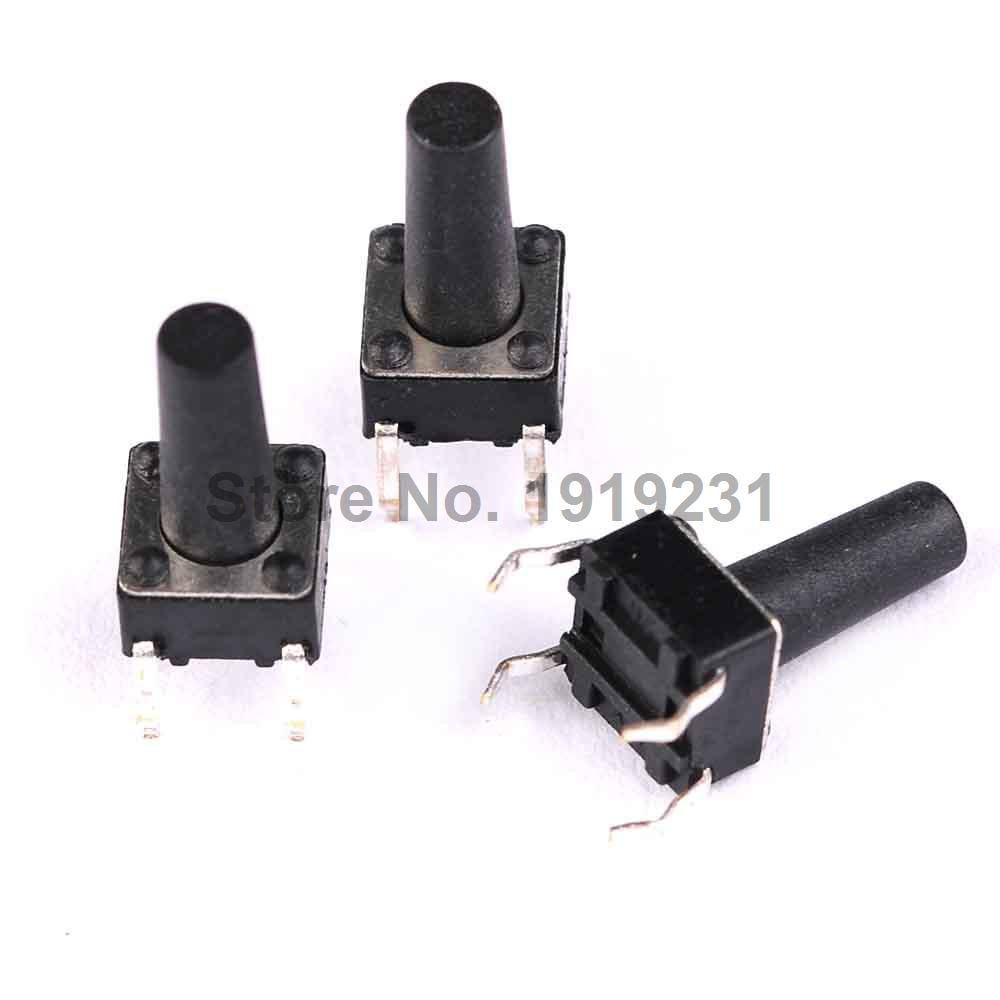 50PCS 6x6x12MM 4PIN Tactile Tact Push Button Micro Switch Direct Self-Reset DIP 6*6*12MM