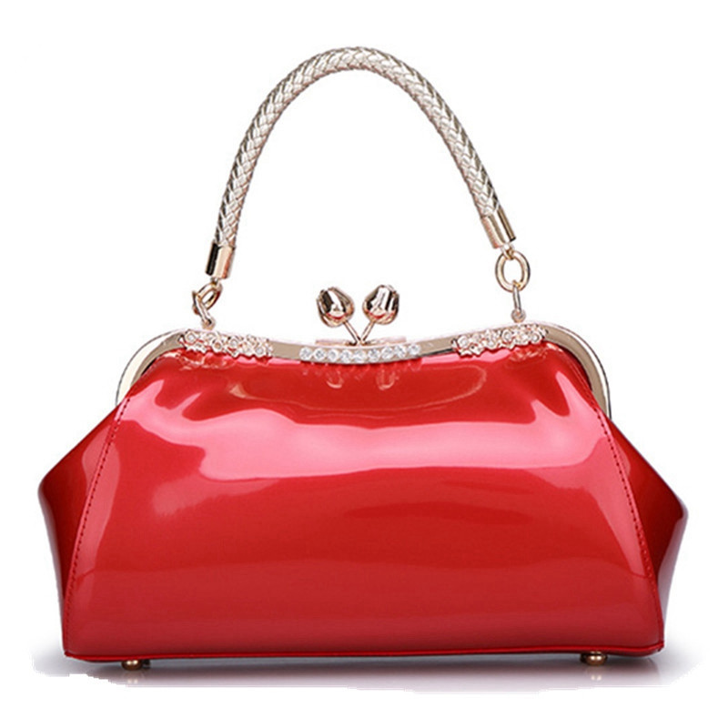New fashion women bags sequin brand design Luxury patent leather Ladies handbags Messenger evening bags with shoulder straps