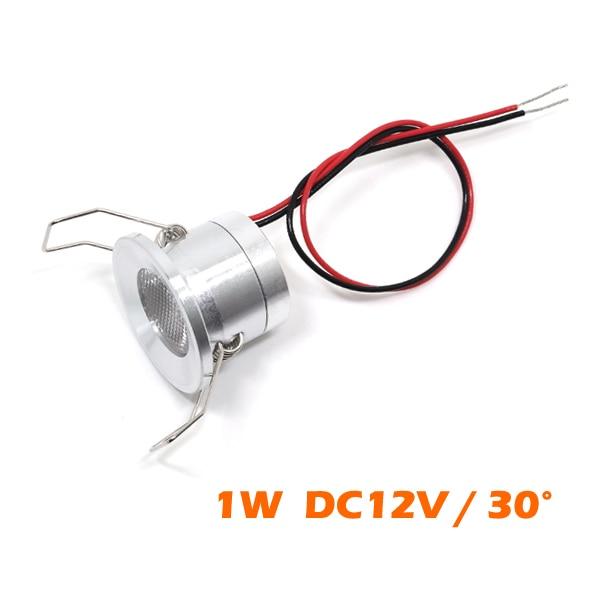24 шт мини 1 W светодиодный точечные потолочные светильники DC12V Гостиная коридор потолочные утопленные светильники глазному яблоку свет