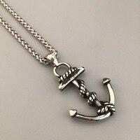 Men S Nautical Jewelry Anchor Charm Pendant Necklaces Anchor Cross Pendant Jewelry Hip Hop Vintage Jewelry