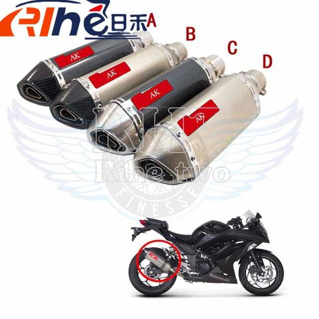 Fibra De Carbono da motocicleta Modificado Silenciador tubo de Escape Akrapovic Para KAWASAKI z750 z800 yamaha mt-07 mt-09 mt 07 mt 09 yzf-r3 R3