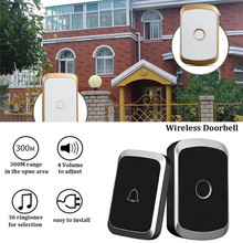 PYMH  Home Security Wireless Doorbell Waterproof AC 100-240V 300M Range Door Bell