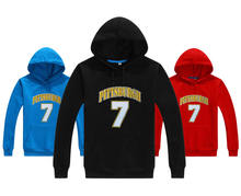 2017 Pittsburgh #7 Big Ben Raglan Logo Autumn Winter Ben Roethlisberger Men Hoodies Sweatshirts Pullovers Steelers W1019015