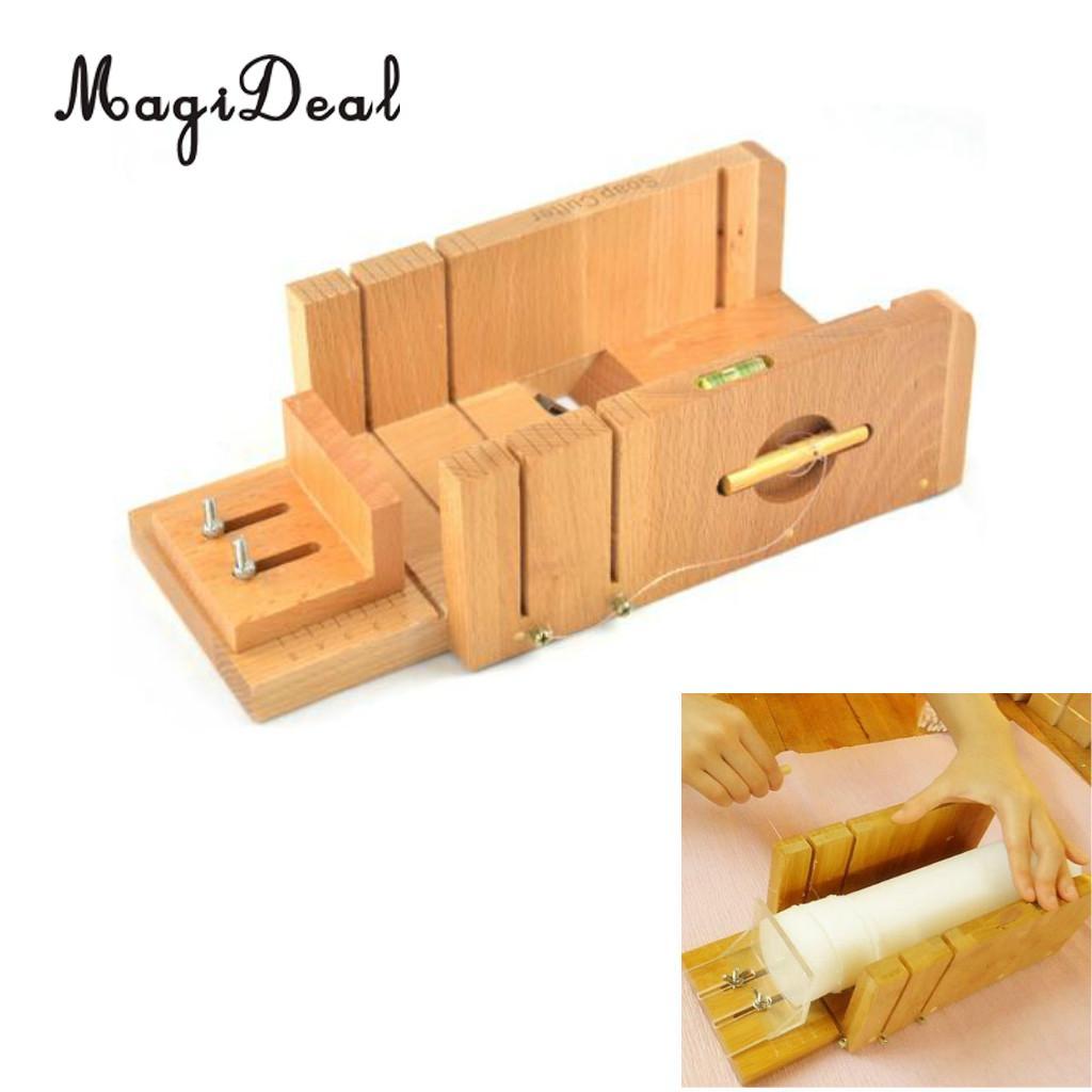 Pine Wood Loaf Soap Cutter Adjustable Soap Trimming Beveler Slicer DIY Tools