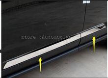 สำหรับรถจี๊ปเข็มทิศ 2012 2013 2014 2015 ABS Chrome ประตูด้านข้าง Body Molding ฝาครอบด้านล่าง Trim