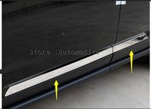 For Jeep Compass  2012 2013 2014 2015 ABS Chrome Side Door body molding bottom Cover Trim
