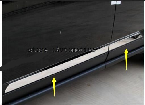 For <font><b>Jeep</b></font> <font><b>Compass</b></font> <font><b>2012</b></font> 2013 2014 2015 ABS <font><b>Chrome</b></font> Side Door body molding bottom Cover Trim image