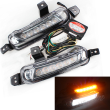 1 Set 12V DRL Daytime Running Light For SUZUKI Vitara 2015 2016 LED Daylight Waterproof Signal Car-Styling Light Super Bright