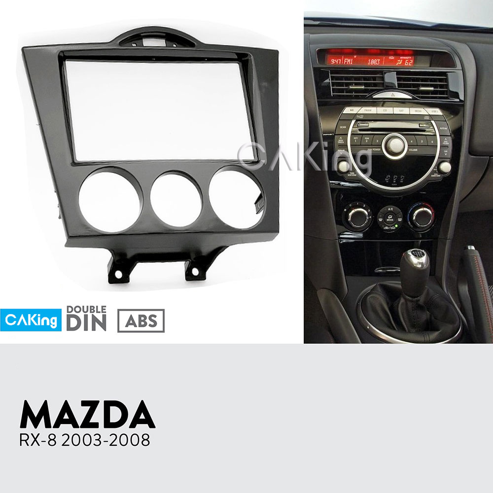 double din car fascia radio panel for 2003 2008 mazda rx 8. Black Bedroom Furniture Sets. Home Design Ideas