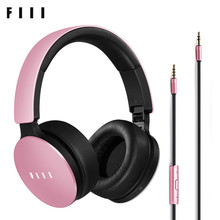 Unique FIIL HiFi Sensible Wired Line Kind Headphones Energetic Noise Canceling with Microphone Headsets Foldable Design Earphones