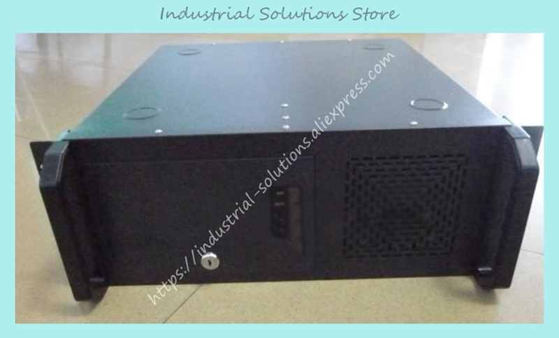 New 4U Industrial Computer Case 4U Server Computer Case 6 Hard Drive 2 BIT 4U-450ATX Black 7building new 3u ultra short 3u computer case 380 3u industrial computer case 7 hard drive aluminum panel