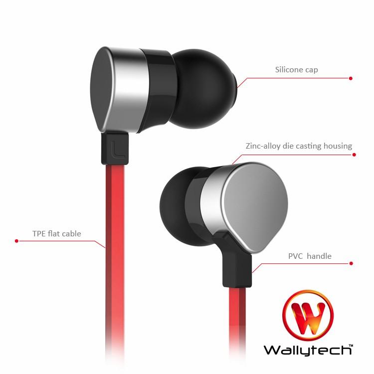 Wallytech orginal metal earphone WHF-125