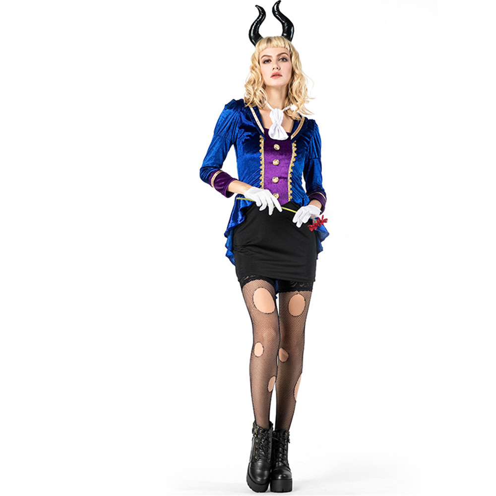 Cosplay Halloween Carnival purim Devil Queen <font><b>Cow</b></font> Devil <font><b>Sexy</b></font> Uniform Bar Adult Uniform Game Costume Fancy Dress image