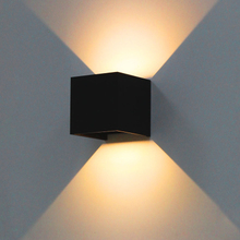 7W Adjustable angle modern outdoor LED wall lamp up & down outdoor wall light garden decoration IP54 AC90-260V Sconce Lighting