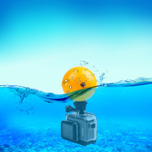 Diving ABS Hard Floating Ball Bobber Float with Safety Lanyard Strap for Gopro Hero 7/6/5/4/3/3+/2/1 Session Xiao Yi Camera