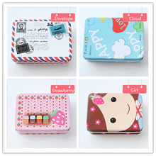 Storage-Box Mini-Film Photo Cartoon Card-Holders for Instax Small Iron Jewelry-Coins