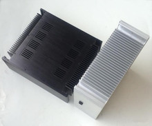 4315A Aluminum Chassis Amplifier Case Power Amp DIY Cabinet Box With Heatsink Black & Silver optional