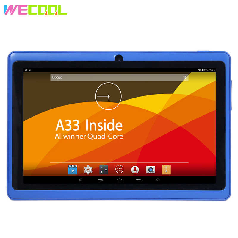 7 inch WeCool Q88 Cheapest Kids Tablet PC Allwinner A33 Quad Core CPU  Android 4 4 OS 8GB Memory Installled Kids Education Games