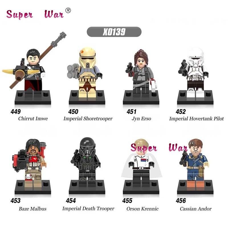 80pcs starwars superhero Rogue One Baze Death Trooper building blocks bricks friends for house games kids children toys