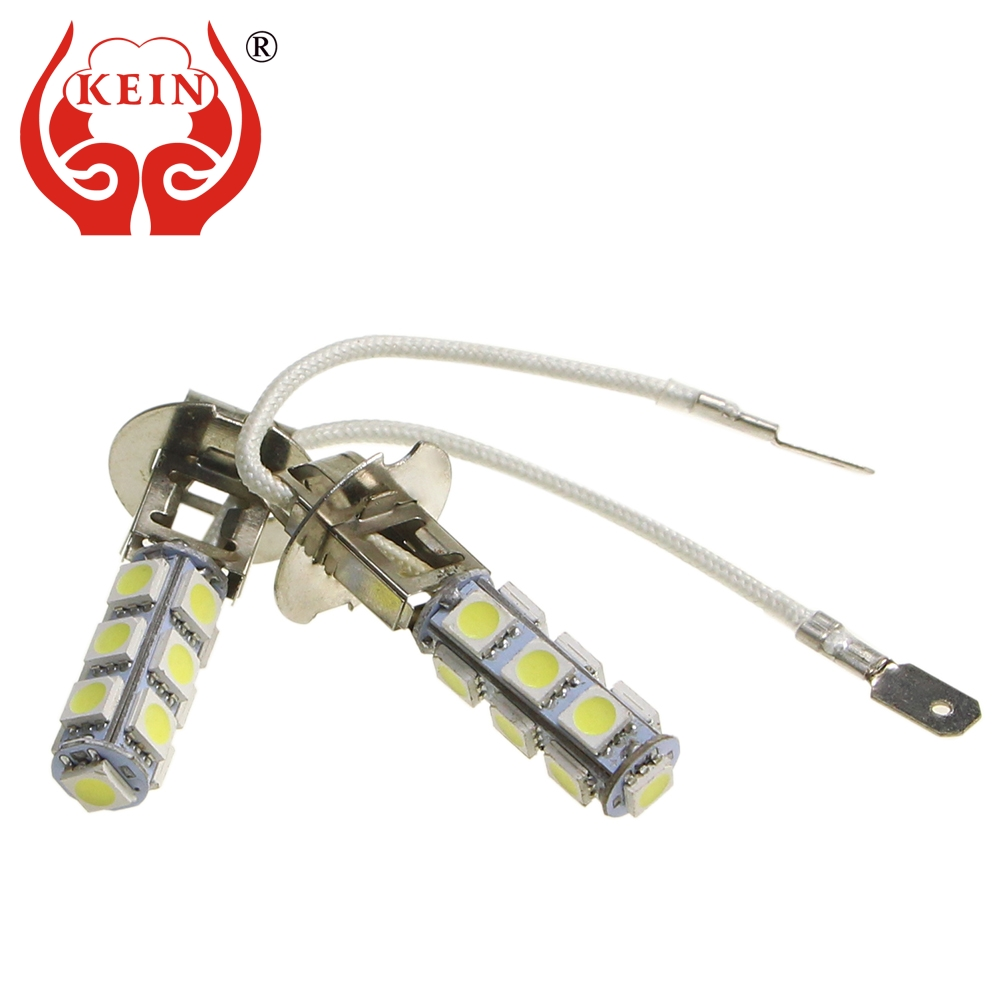 KEIN 6pcs H3 LED fog Bulb 5050 13smd Car Auto DRL Daytime Running External h3 Lamp