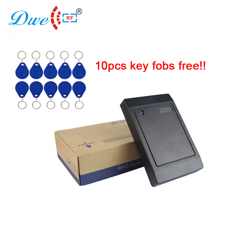 Free shipping 13.56mhz smart card contactless reader wiegand rfid scanner with 10 fobs free shipping 13 56mhz smart card contactless reader wiegand rfid scanner with 10 fobs