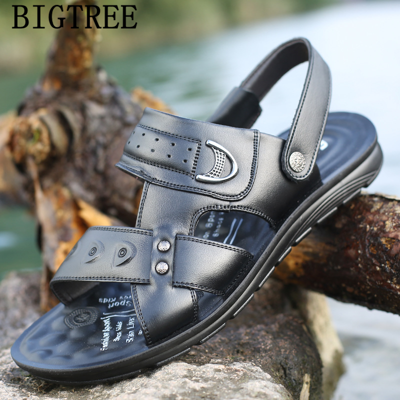 <font><b>summer</b></font> <font><b>sandals</b></font> <font><b>men</b></font> <font><b>outdoor</b></font> <font><b>mens</b></font> leather <font><b>sandals</b></font> designer shoes beach <font><b>sandals</b></font> <font><b>men</b></font> <font><b>fashion</b></font> shoes 2019 chaussure homme buty meskie image