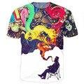 Художественный Джаз Тройник 3d печати футболка красочные яркие цвета футболка женщины мужчины топы летний стиль футболки хип-хоп