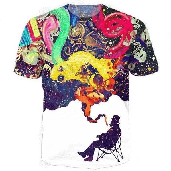 Artistic Jazz Tee 3d print t shirt colorful vibrant colors tshirt women men tops summer style t-shirt hip hop