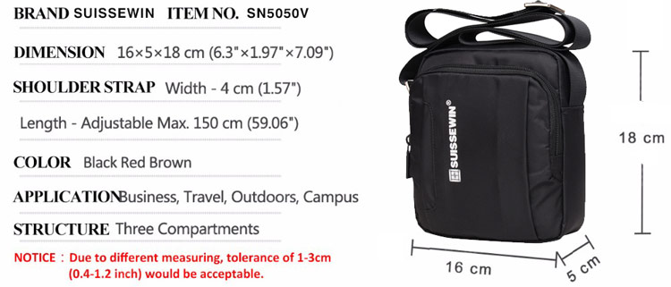 swisswin shoulder bag