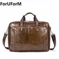 Top Grade Male Men S Vintage Real Leather Briefcase Genuine Leather Messenger Shoulder Portfolio Laptop Bag