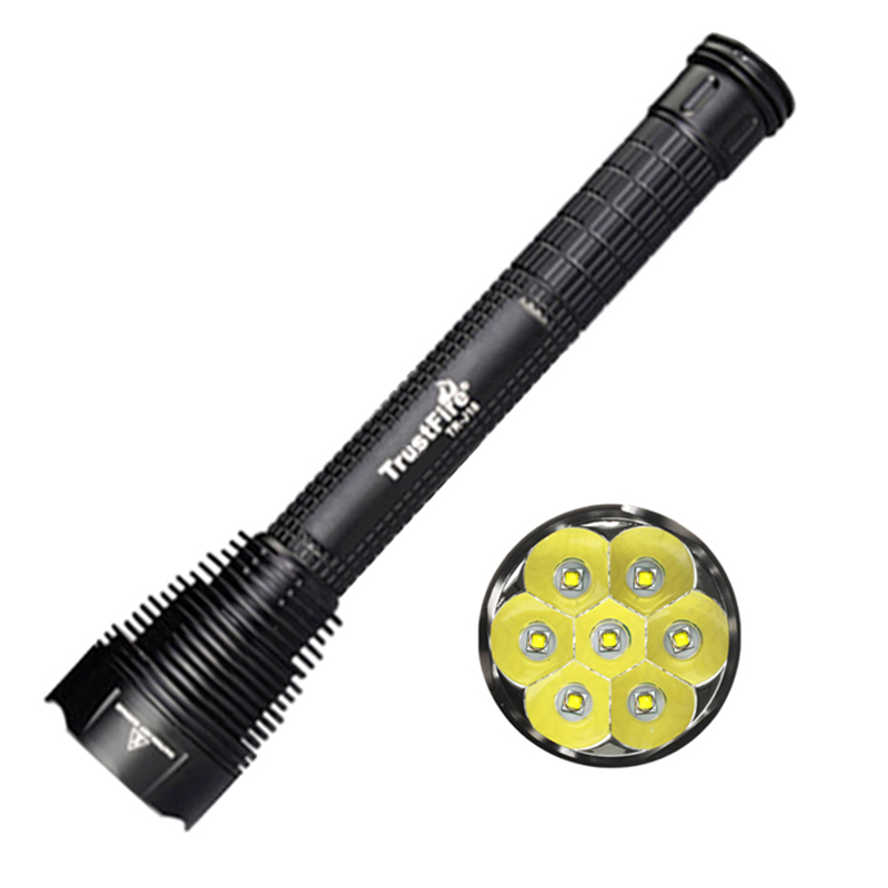 18650 Flashlight TrustFire J18 lanterna 7 Led Torches High Power XML T6 8000Lm Waterproof Extended Hunting