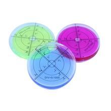 HACCURY-inclinomètre rond de haute précision, 66x10mm, niveau à bulle, instrument de Construction Horizontal circulaire en plastique