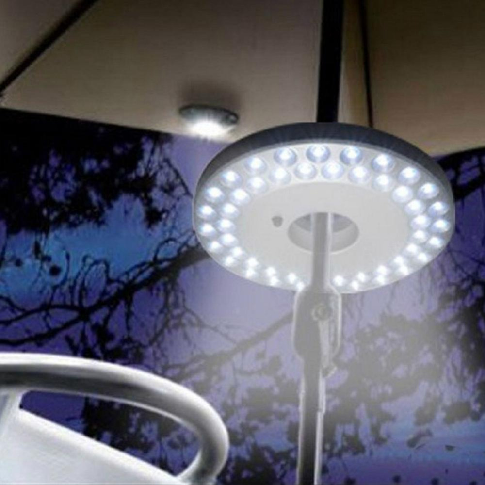 48 LED Outdoor Umbrella Night White Lamp Pole Light Yard Garden Lawn For Trip Travel Hiking Camping Outdoor Activities