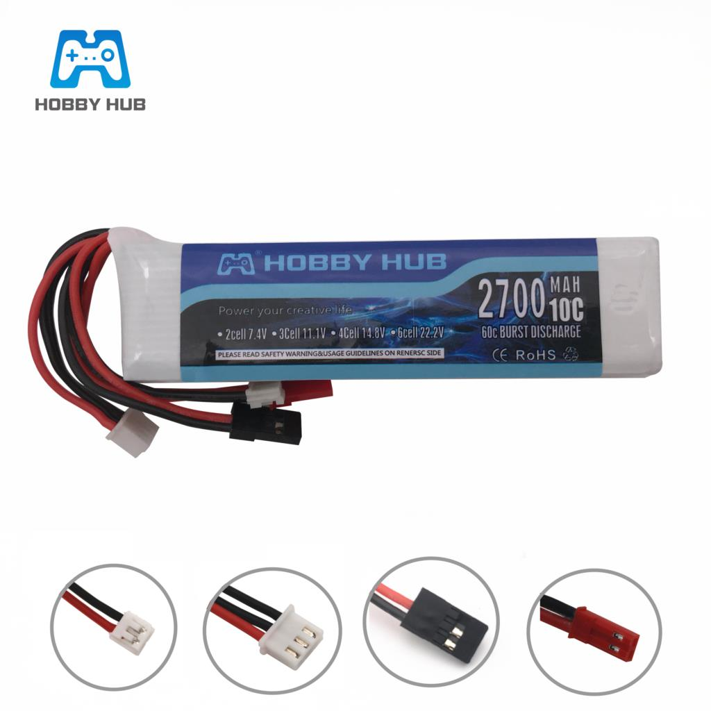 <font><b>11.1V</b></font> <font><b>2700mah</b></font> 2600mAh 8C 3S Li-Poly RC <font><b>Battery</b></font> for Walkera DEVO 7 DEVO 10 DEVO12E F12E WFLY9 RadioLink AT9 AT10 Transmitter image
