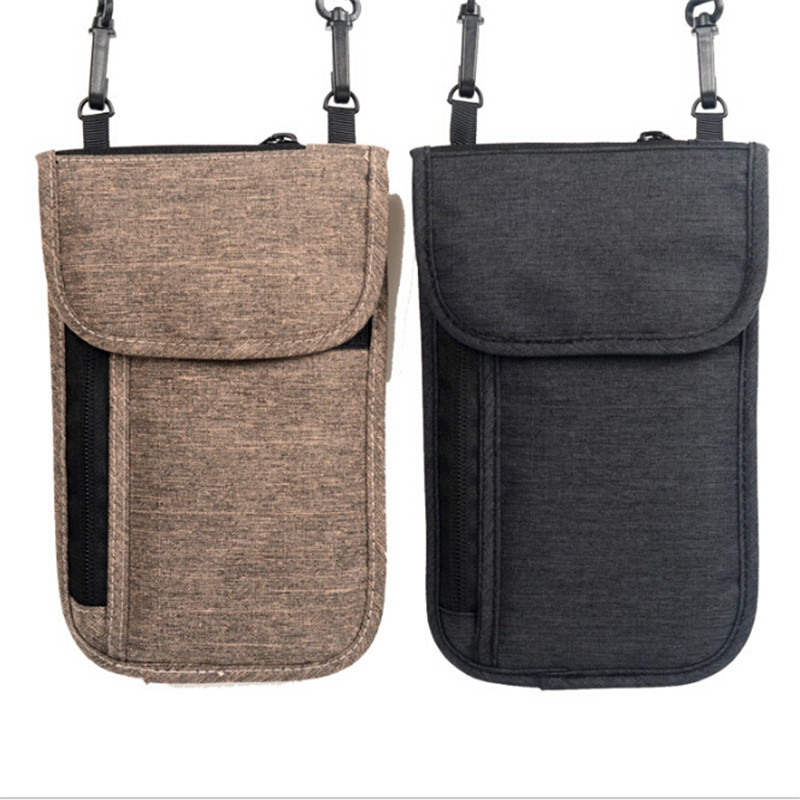 Neck Hanging Travel Passport Cover Wallet ID Holder Storage Clutch Money Bag Travel Multifunction Credit Card Package