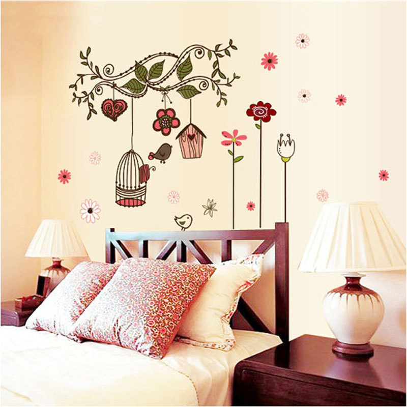 Fundecor fashion Chinese style vintage home art decor ... on Room Decor Stickers id=25615