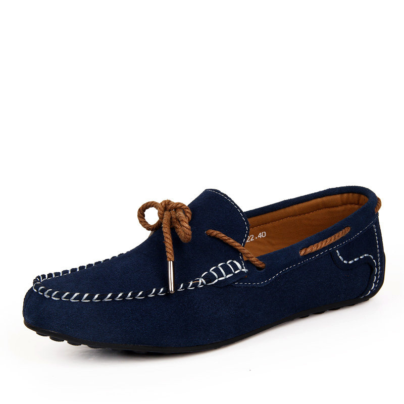 Nuevo 2016 hombres de Lujo Controladores Mocasines Moda de Cuero de Gamuza Azul Zapatos de Sperry