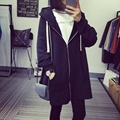 Fashion Solid Loose Hooded Jacket 2017 Women basic Coats 2 Colors Plus Size Spring Jacket Women Casaco Feminino Loose Coat
