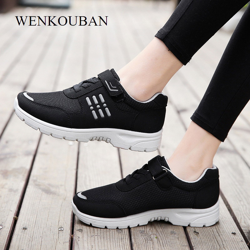 Fashion Sneakers Women Casual Shoes Trainers Summer Platform Shoes Mesh Basket Femme Ladies Black Flat Sneakers Zapatos Mujer fashion women flats summer leather creepers platform sneakers causal shoes solid basket femme white black