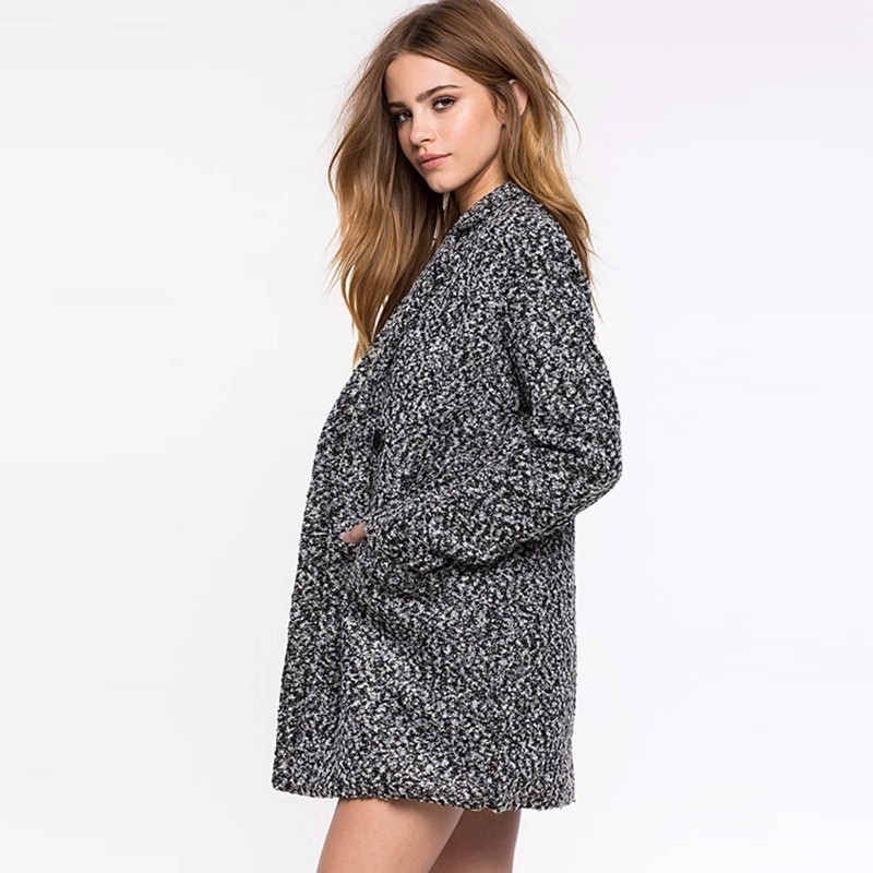 Double breasted lapel wool coat 2