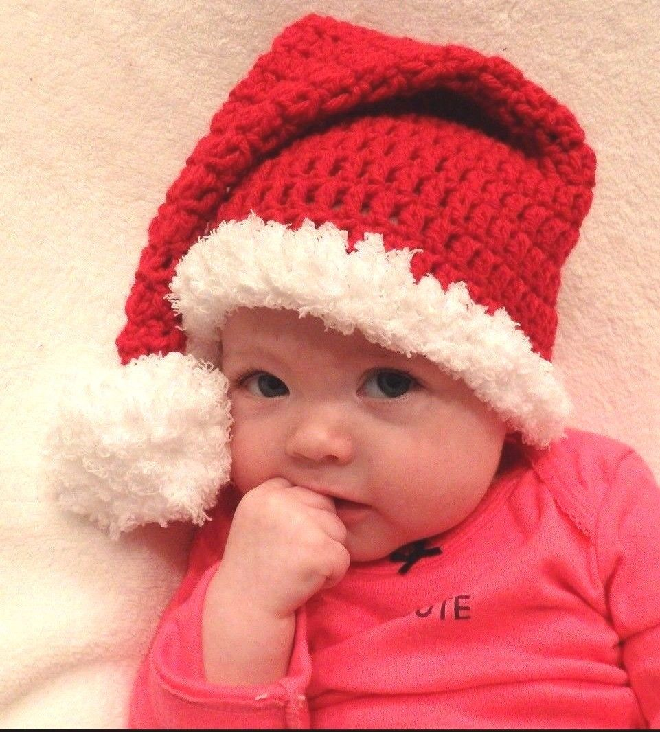 CROCHET SANTA BABY HAT hoilday knit infant toddler child adult photo prop USA newborn baby photography props infant knit crochet costume peacock photo prop costume headband hat clothes set baby shower gift