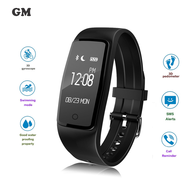 S1 Smart Band Wristband Bracelet Heart Rate Pedometer Fitness Tracker IP67 Waterproof Smartband For iOS Android