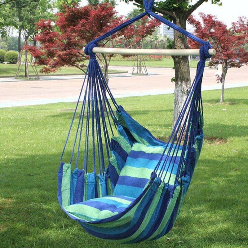 Venda quente ao ar livre portátil cadeira berço interior confortável casa dormitório lazer cadeira de suspensão rede cadeira