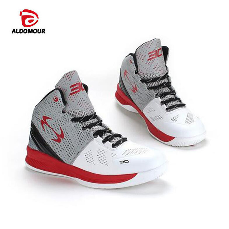 ALDOMOUR Lifestyle basketball shoes for lovers newest 2017 basketball sneakers men women boots lace up basket homme four season pavilion lifestyle