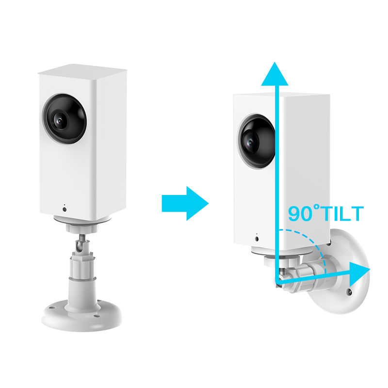 BECROWMUS Wyze Camera Wall Mount Bracket Indoor and Outdoor Wall Base for WyzeCam 1080p iSmartAlarm Spot Camera Support Stand White