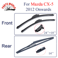 Combo Silicone Rubber Front And Rear Wiper Blades For Mazda CX 5 2012 Onwards Windscreen Wipers