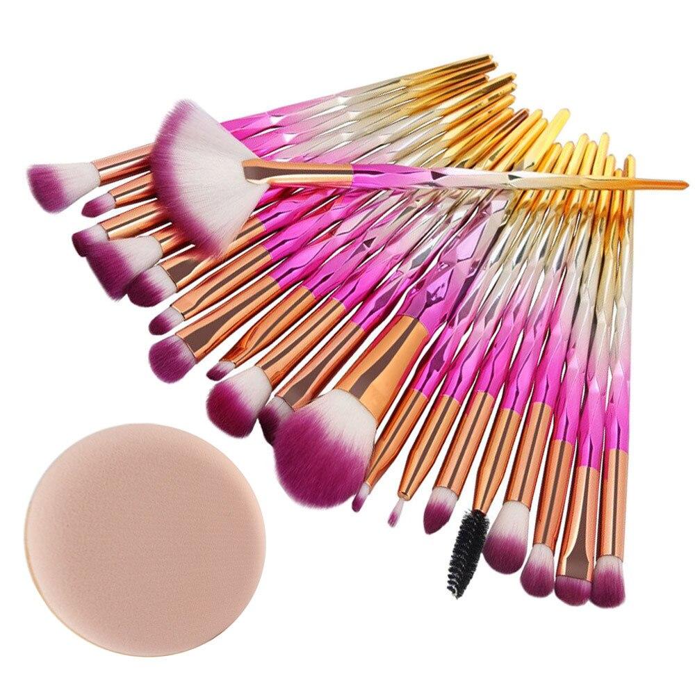 MAANGE 20 Pcs Make Up Brushes Set Foundation Eyebrow Eyeliner Blush Cosmetic Concealer Makeup Tool кисти для макияжа L511