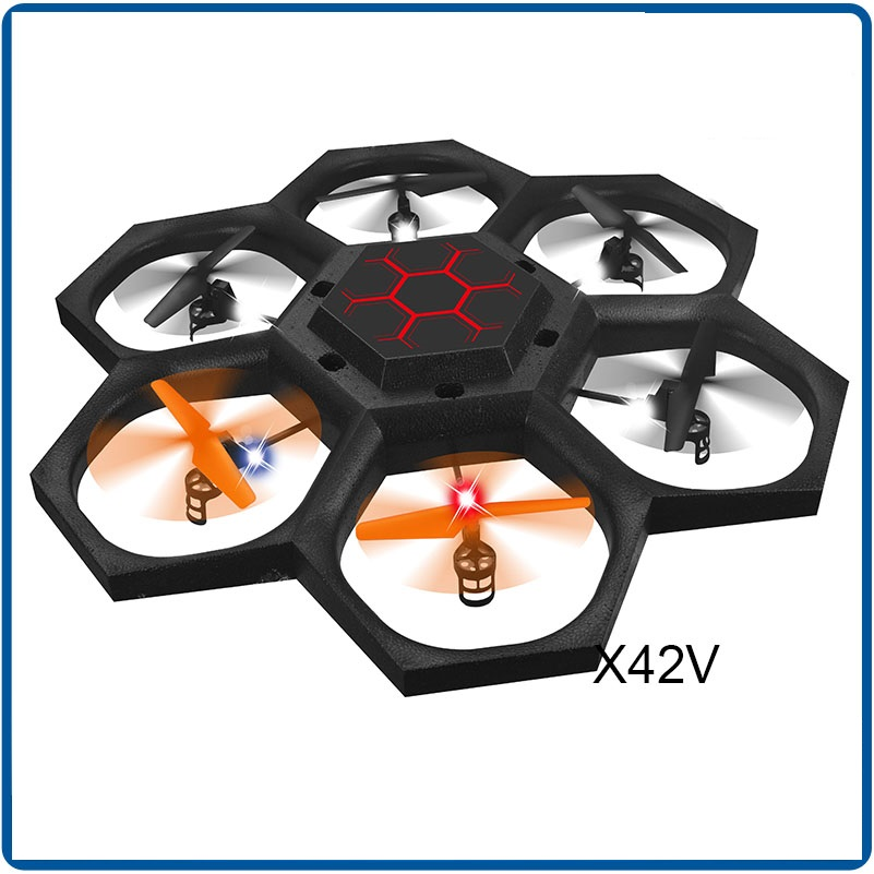 large UFO RC drone X42 2.4G 6-axis remote control rc Quadcopter 360 degree rotation rc flying toys ufo remote control drone toy creative 2 4ghz remote control 4 ch ladybug style flying ufo w gyro yellow black red