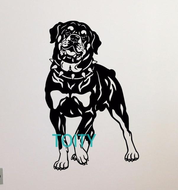 Rottweiler Dog Wall Decal Nursery Pets Poster Vinyl Sticker Decor Animal Mural H90cm X W57cm