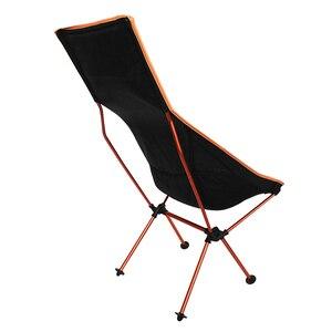Image 5 - 11.11 עסקות נייד חיצוני מתקפל קמפינג כיסא תמיכה 360lbs גבוהה רשת חזרה עם לשאת תיק